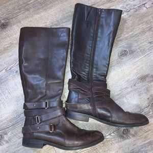 Bar III Leather Boots Size 9.5
